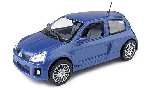 Renault Clio V6 Serie 2 (2000) Universal Hobbies 1/43 Azul Metalizado