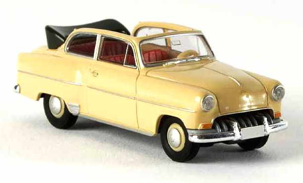 Opel Olympia Rekord Cabrio (1953) Brekina 20224 1/87 Beige