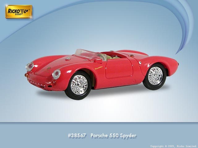 Porsche 550 Spider (1953) Ricko 1/87 Rojo