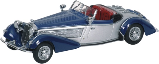 Horch 855 Special Roadster (1938) Minichamps 1/43 Azul - Plata