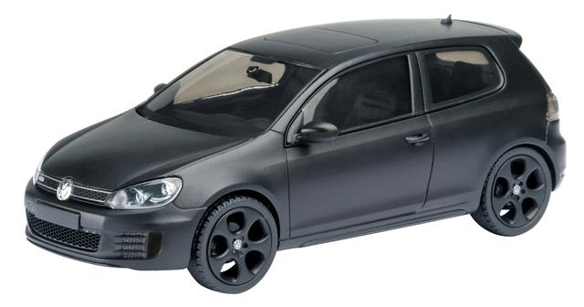 Volkswagen Golf GTI Serie VI (2008) Schuco 1/43 Negro Mate