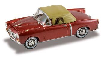 Fiat 1100 TV Cabriolet Cerrado (1956) Starline 526012 1/43 Granate Metalizado