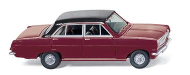 Opel Rekord A (1963) Wiking 1/87 Granate Techo Negro