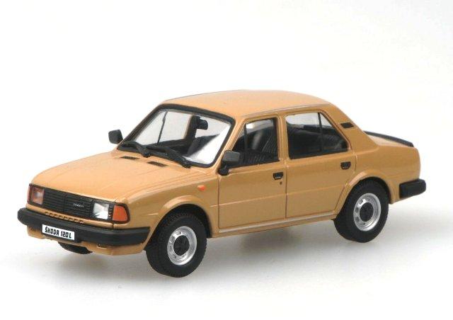 Skoda 120L (1984) Abrex 143ABS-702 1/43 Marrón Claro