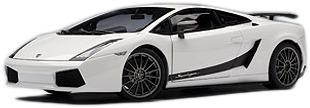 Lamborghini Gallardo Superleggera (2007) Autoart 1/18 Blanco Metalizado