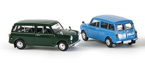 Austin Mini Countryman (1961) Brekina 15300 1/87 Azul