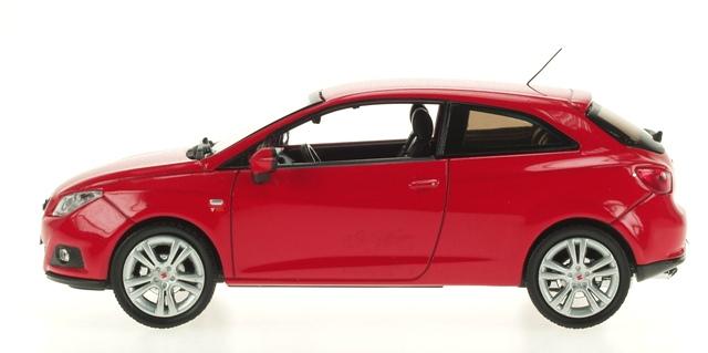 Seat Ibiza 3p. Serie IV (2008) Ixo 1/43 Rojo