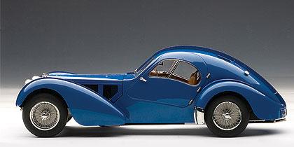 Bugatti 57SC Atlantic (1938) Autoart 1/18 Azul Llantas Cromadas