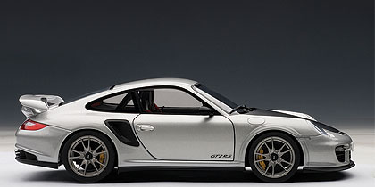 Porsche 911 GT2 RS -997- (2010) Autoart 1:18 Gris Metalizado Capó Negro