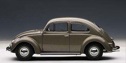 Volkswagen Escarabajo Limousine (1955) Autoart 1/18 Plata Polar