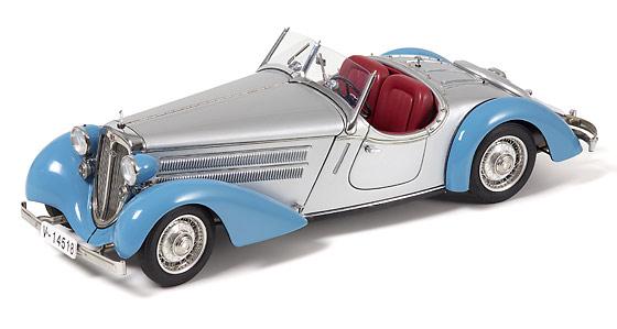 Audi 225 Roadster abierto (1935) CMC 1/18 Azul - Plata