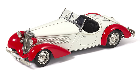 Audi 225 Roadster abierto (1935) CMC 1/18 Blanco - Rojo