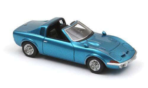 Opel GT Aero (1969) Neo 1/43 Azul Metalizado Techo Abierto
