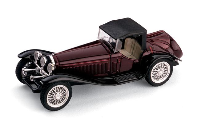 Alfa Romeo 2300 Cabriolet Cerrado (1931) Brumm 1/43 Granate-Negro Capota Cerrada