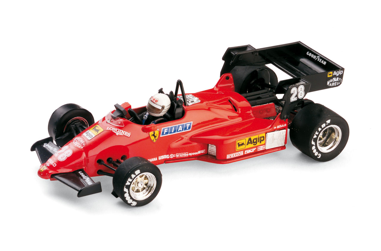Ferrari 126 C4 nº 28 Rene Arnoux (1984) Brumm 1/43 Con Piloto