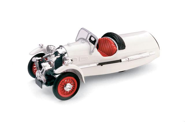 Morgan MX-4 Super Sport (1935) Brumm 1/43 Blanco Capota Abierta