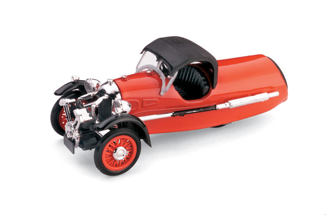 Morgan MX-4 Super Sport (1935) Brumm 1/43 Rojo Capota Cerrada