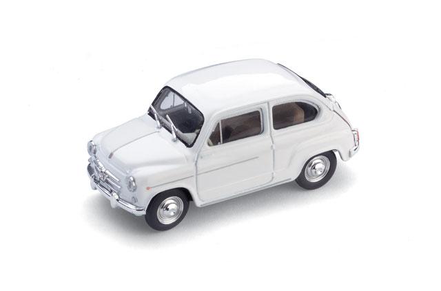 Fiat 600D (1960) Brumm 1/43 Blanco