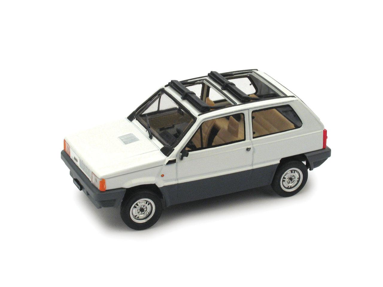 Fiat Panda 45 Techo de lona abierto (1981) Brumm 1/43 Blanco Corfú