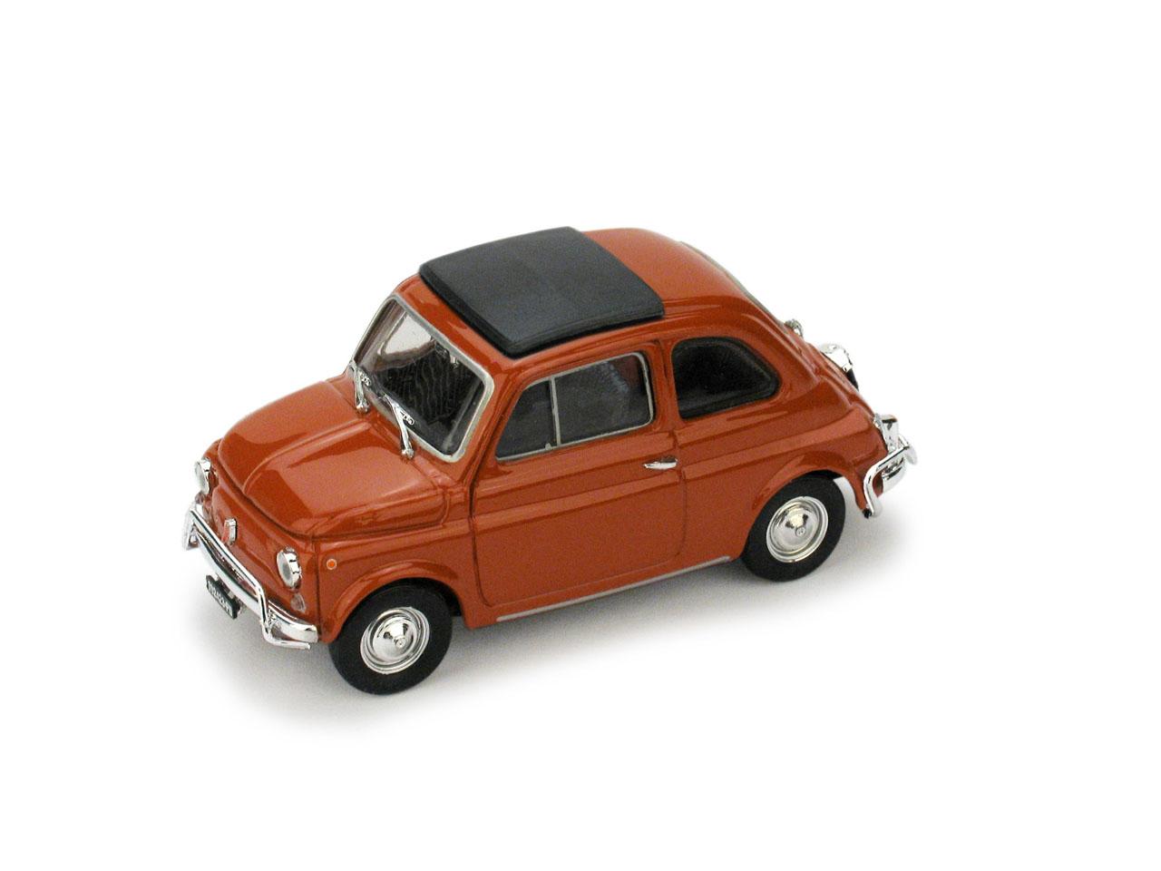 Fiat 500L Techo Cerrado (1968) Brumm 1/43 Rojo Coral