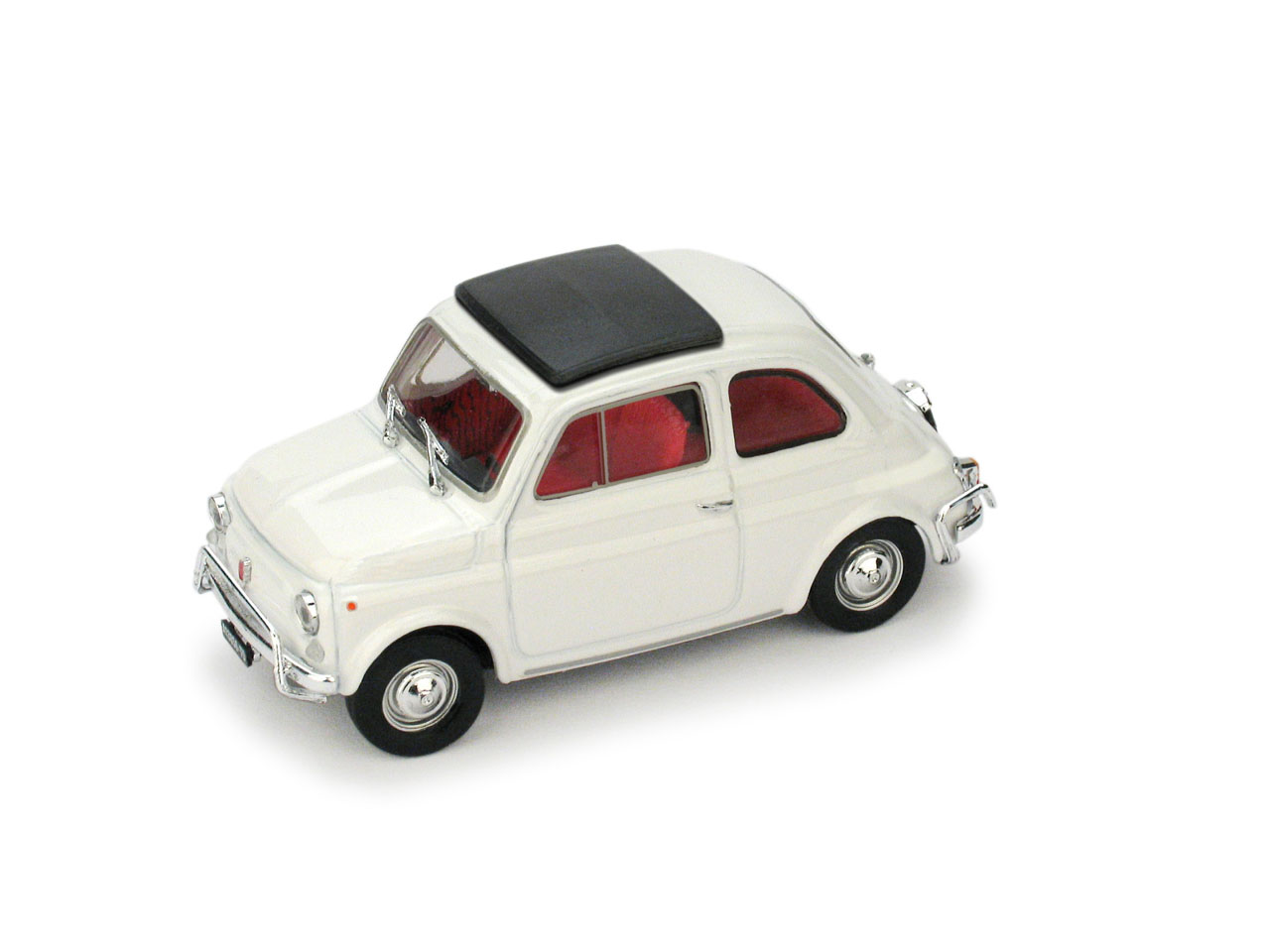 Fiat 500L Techo Cerrado (1968) Brumm 1/43 Blanco Aurora