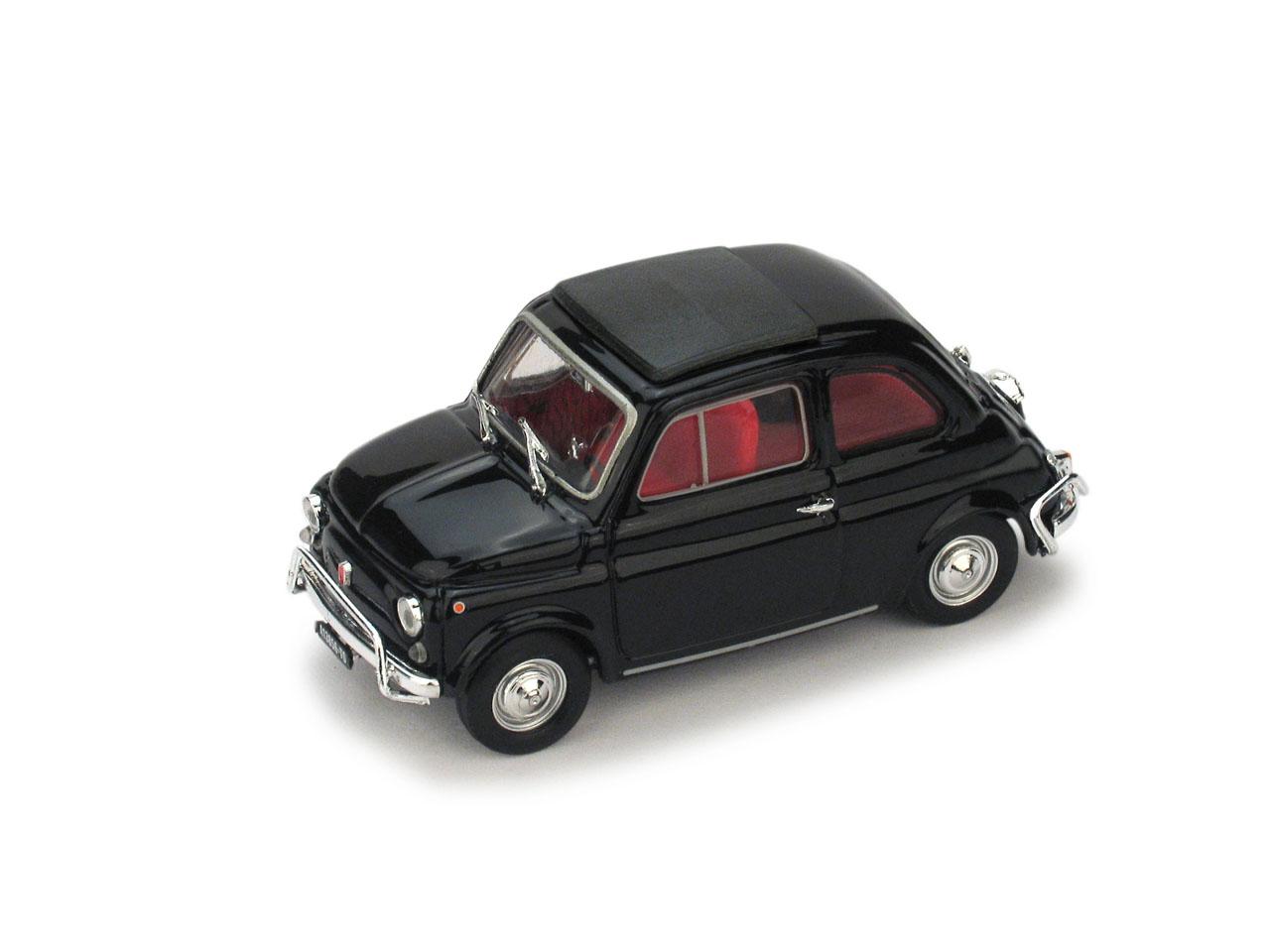 Fiat 500L Techo Cerrado (1968) Brumm 1/43 Negro