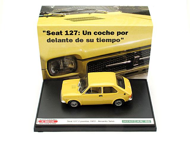 Seat 127 2p. (1972) Brumm 1/43 Amarillo Mostaza