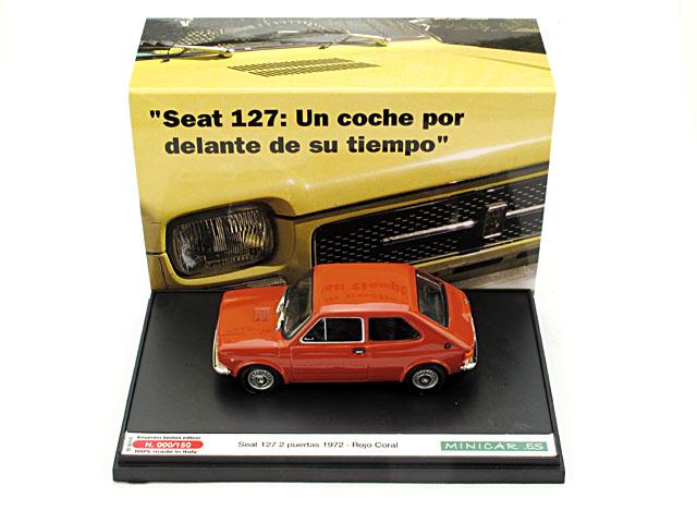 Seat 127 2p. (1972) Brumm 1/43 Rojo Coral