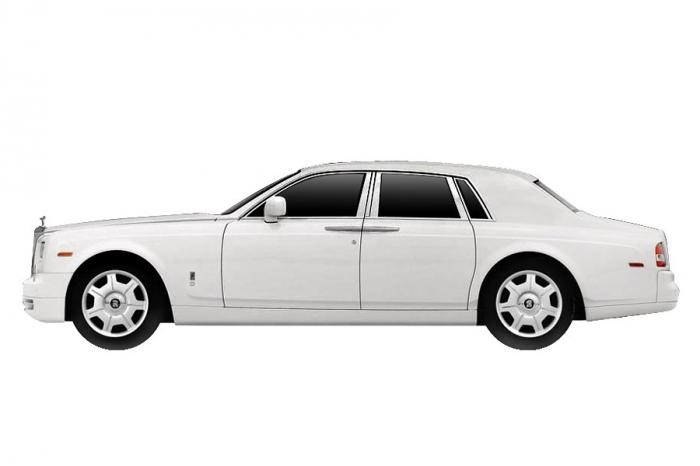 Rolls Royce Phantom Sedan (2009) True Scale 1/43 Blanco Inglés