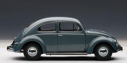 Volkswagen Escarabajo Limousine (1955) Autoart 1/18 Plata Stratos