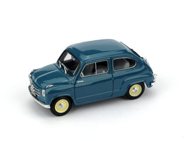 Fiat 600 1ª Serie (1955) Brumm 1/43 Azul