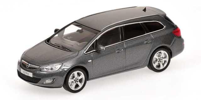 Opel Astra Sports Tourer (2010) Minichamps 1/43 Gris Metalizado