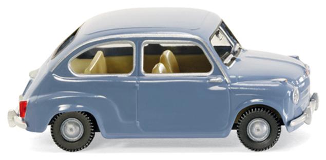 Fiat 600 (1956) Wiking 1/87 Azul