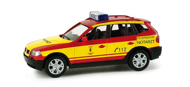 BMW X3 Bomberos de Munich (2010) Herpa 049030 1/87