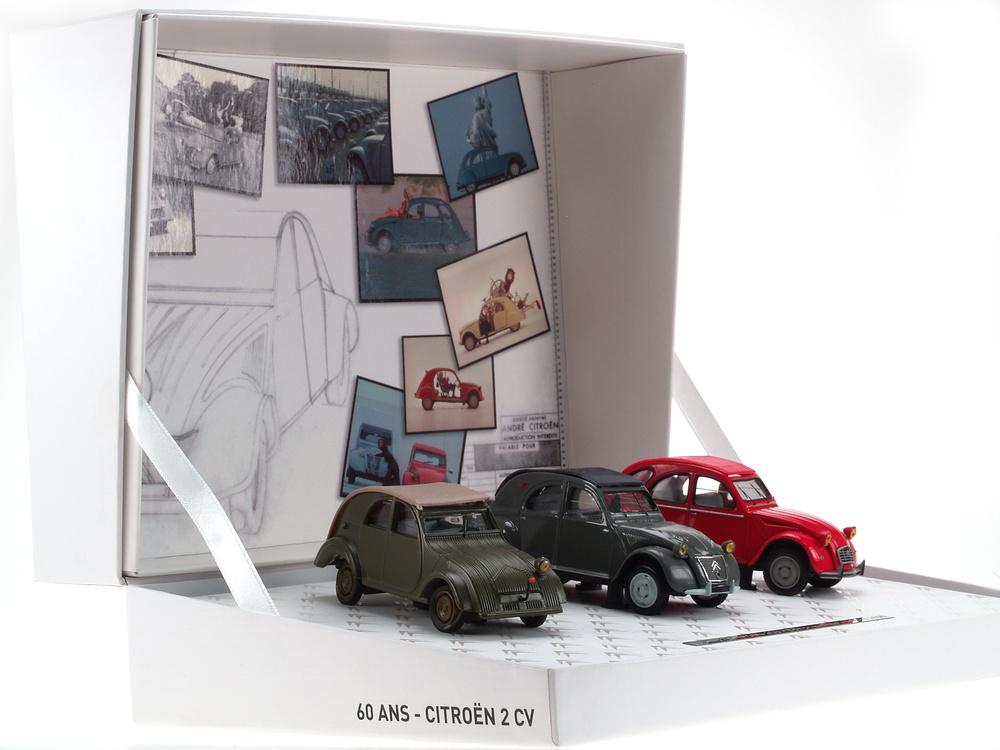 Caja conmemorativa 60 años del 2CV nº 2 Norev 151351 1/43