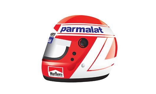 Casco Niki Lauda (1984) True Scale Models TSM12AC04 1/8