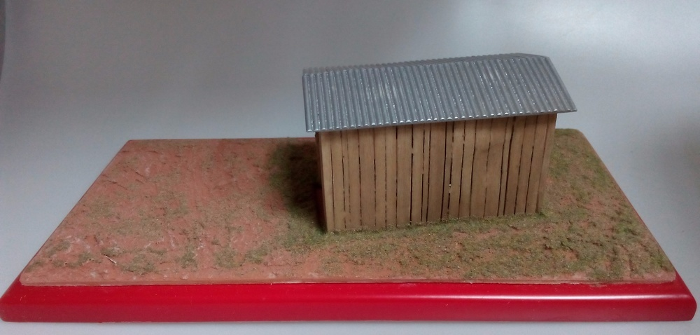 Diorama garaje de madera Microworld 110 1:43