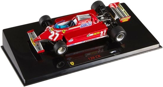 Ferrari 126 CK nº 27 Gilles Villeneuve (1981) Hot Wheels P9945 1/43