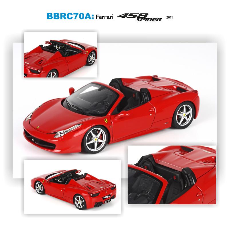 Ferrari 458 spider IAA Frankfurt (2011) BBRC70A 1/43