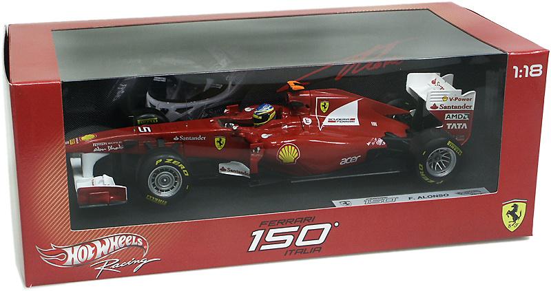 Ferrari F150 nº 5 Fernando Alonso (2011) Hot Wheels W1073 1/18