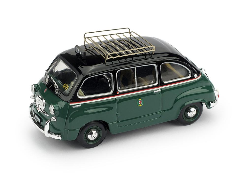 Fiat 600D Multipla Taxi de Milan (1960) Brumm R334-UPD 1/43