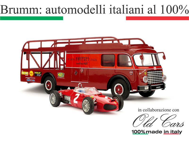 Fiat 642 RN Bartoletti + Ferrari 156 T-car (1961) Brumm TS02 1/43