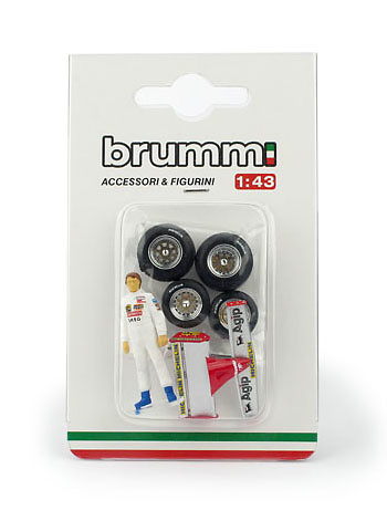 Figura de Gilles Villeneuve con accesorios (1982) Brumm CH01T2 1:43