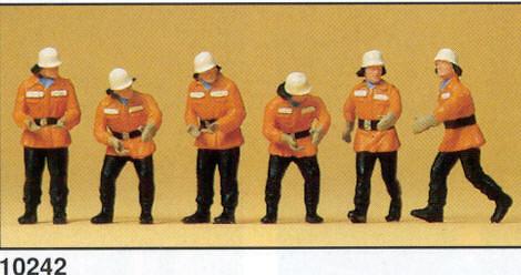 Figuras Bomberos en acción Preiser 10242 1/87