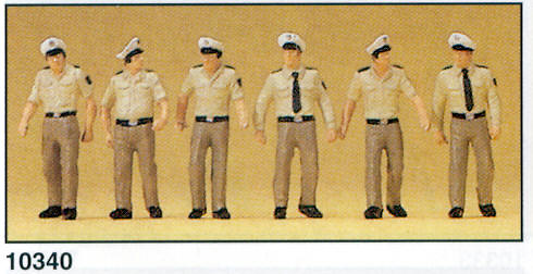 Figuras Policia Alemana Uniforme Preiser 10340 1/87