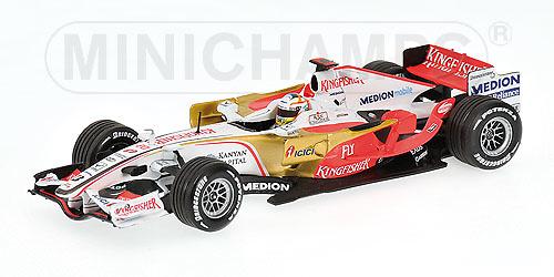 Force India VJM01 nº 20 Adrian Sutil (2008) Minichamps 400080020 1/43