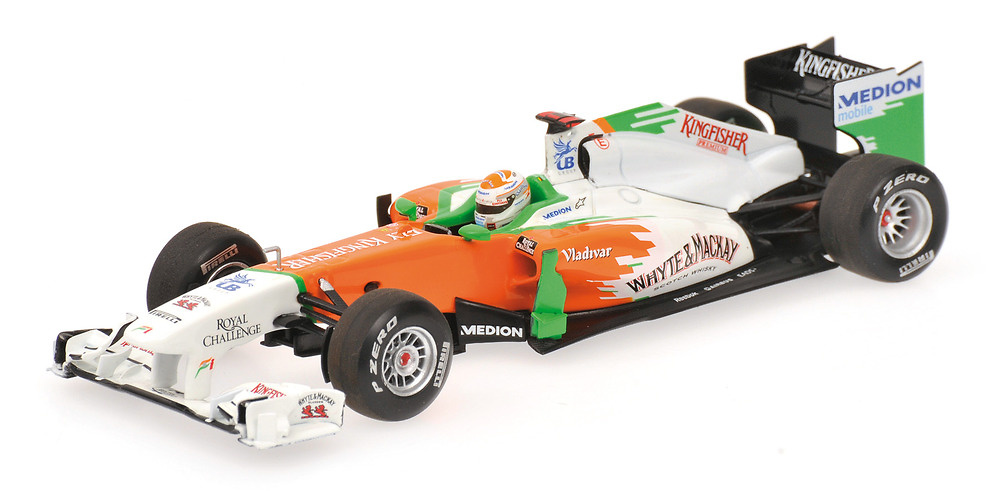 Force India VJM04 nº 14 Adrian Sutil (2011) Minichamps 410110014 1/43