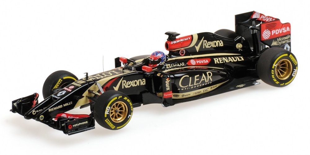 Lotus E22 nº 8 Romain Grosjean (2014) Minichamps 417140008 1:43