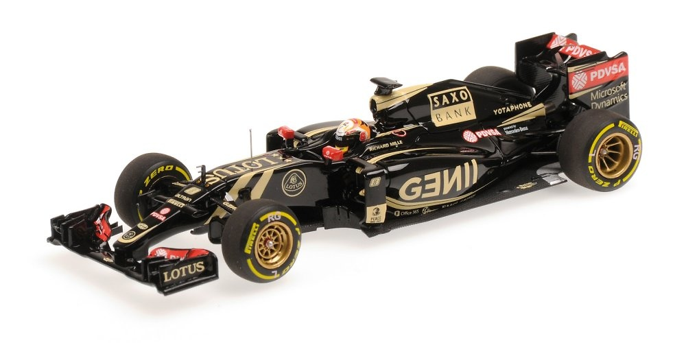 Lotus E23 nº 8 Romain Grosjean (2015) Minichamps 417150008 1:43