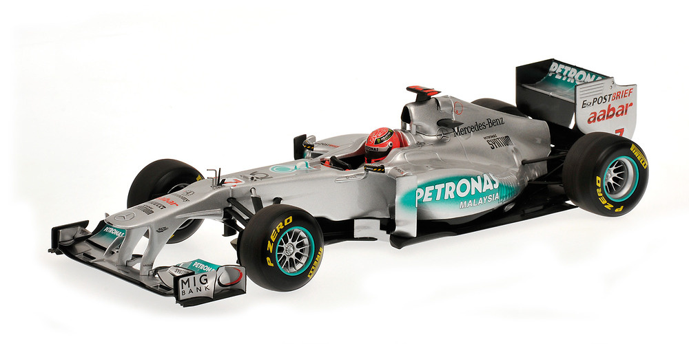 Mercedes W02 nº 7 Michael Schumacher (2011) Minichamps 110110007 1/18